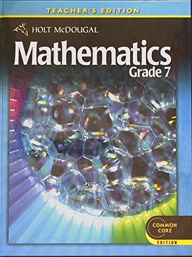 Holt McDougal: Mathematics, Grade 7. Teacher
