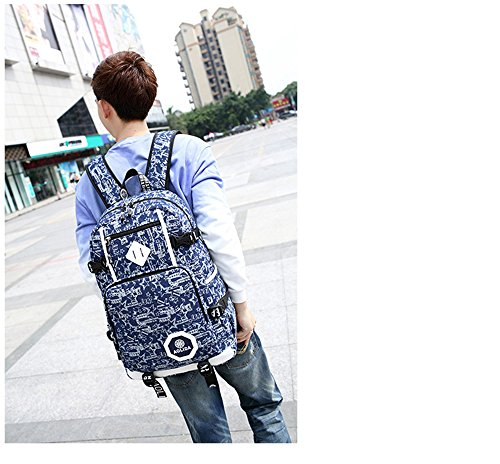 Backpacks Fashion Leisure Fabric Teenagers Daypacks Bag Outdoor Women Shoulders Cotton 6 Rucksack Men Girls Boys Canvas TqqwCEr