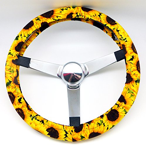 Mana Trading Handmade Steering Wheel Cover Sunflowers Floral