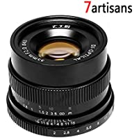 7Artisans Factory Direct 35mm f/2 F2.0-F16 Standard-Prime Fixed Lens for Sony E Mount Compact Mirrorless Cameras A7S II A7R II A7r A7s A6300 Support Full Frame Peak Focus, Manual Focus-Black