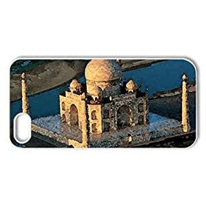 Taj Mahal - Case Cover for iPhone 5 and 5S (Monuments Series, Watercolor style, White)