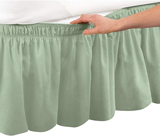 Amazon.com: Collections Etc Wrap Around Bed Skirt, Easy Fit