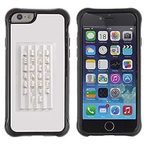 Paccase / Suave TPU GEL Caso Carcasa de Protección Funda para - Calligraphy Design White Abc - Apple Iphone 6