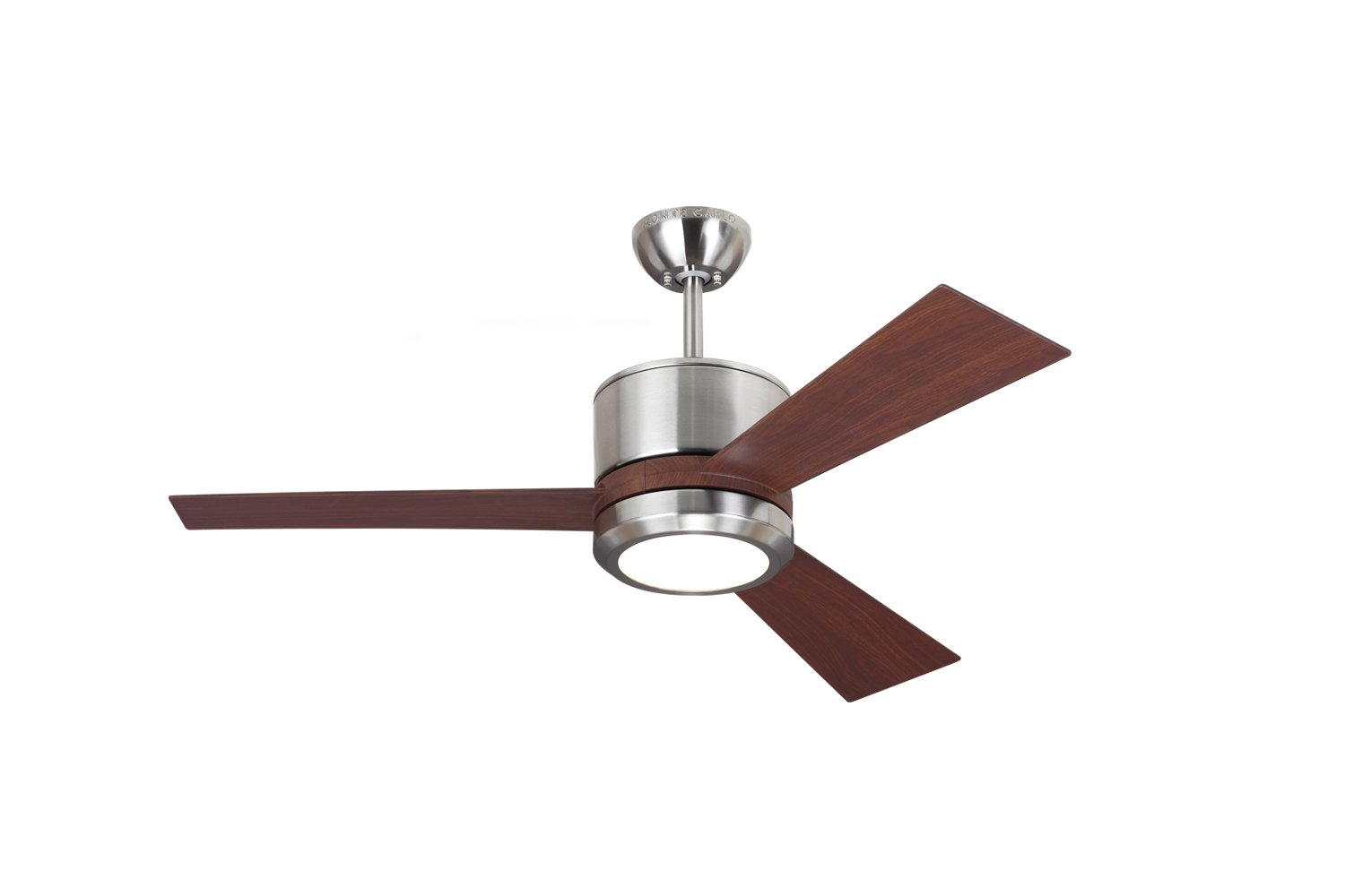 ceiling pd mount piper monte indoor shop brushed steel carlo ceilings in and downrod fan company remote