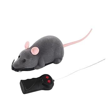 Ratón teledirigido, ratón Juguete robótico del gato interactivo Dos modos de trabajo Diversión interior elegante