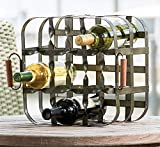 Park Designs 9 Bottle Metal Crate 8 Inches Height x 12 Inches Width x 12 Inches Depth Iron Wine Rack Organization Products Household Supplies