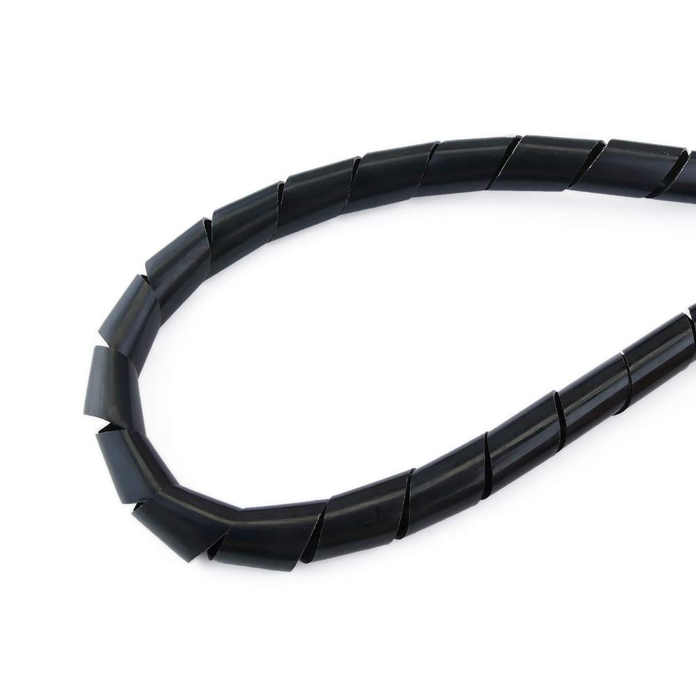BeMatik Funda Negra en Espiral de 4-50 mm Longitud 5 m Organizador de Cables