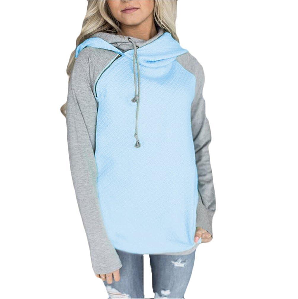 32854919537d0 Sweat Zippé Capuche Femme Pull a Capuche Hoodies Sweat Shirt Sweatshirt  Fille Oversize Tops à Manches Longues: Amazon.fr: Vêtements et accessoires