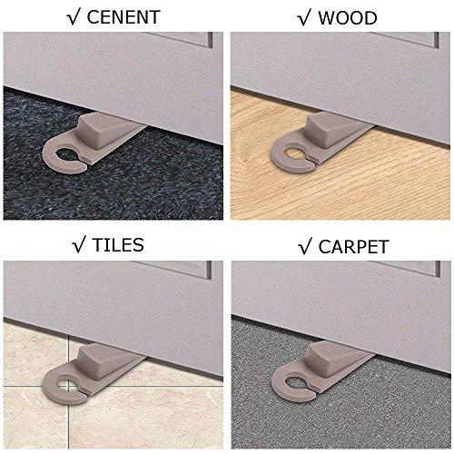 Door Stoppers, Hook Type Premium Rubber Door Stop Wedge, 6 Pack Doorstops Work On All Floor Surface for Home Office School by Zivisk (Image #4)