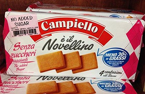 (Pack of 3) Italian Campiello Sugar Free Cookie Senza Zuccheri 350g by Campiello