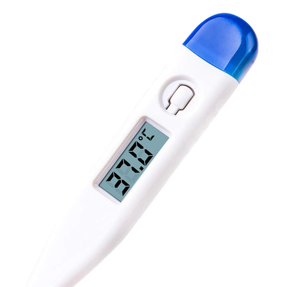 Kids and Adult Noomer Oral Thermometer with Soft Head for F/èv/èr Digital Body Thermometer Baby (Random Color)