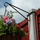 2 x Hanging Basket Brackets for Concrete Posts supports Easy Fill baskets