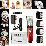 Low-Noise Electric Animal Pet Dog Cat Hair Trimmer Shaver Grooming Clipper Red