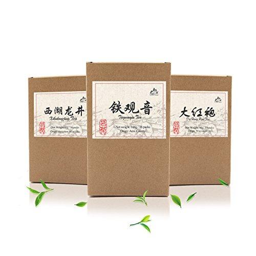 (Luxtea Classical Chinese Tea Tie Guan Yin Tea Iron Mercy Goddess Organic Oolong Green Tea Pack of 18 Teabags )