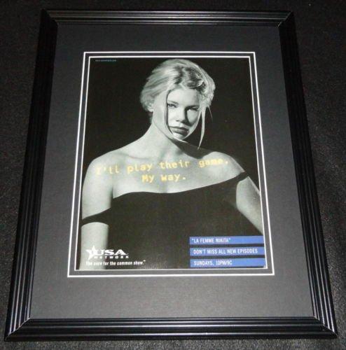 La Femme Nikita 1998 Framed 11x14 ORIGINAL Advertisement Peta Wilson