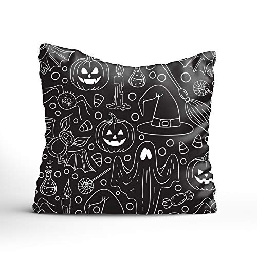 Dolores Joule Halloween Decorative Pillowcase for Couch/Sofa/Bed 18x18 inch Throw Pillow ()