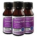 De La Cruz Gentian Violet First Aid Antiseptic Liquid/Made in USA 1 FL OZ (3 Bottles)
