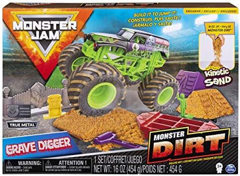 Monster Jam Grave Digger Monster Dirt Deluxe SetMonster Dirt & 1:64 Scale Die-Cast Truck / Monster Jam Grave Digger Monster Dirt Deluxe SetMonster Dirt & 1:64 Scale Die-Cast Truck