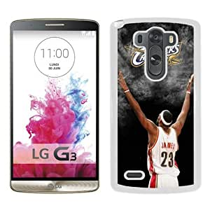 Host Sale LG G3 Case ,Fashion And Durable Designed With Cleveland Cavaliers Lebron James 3 White LG G3 Cover