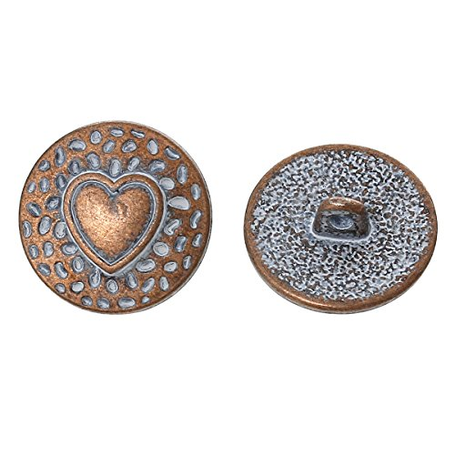 pepperlonely-brand-10pc-metal-shank-button-round-antique-copper-spray-painted-single-hole-heart-patt