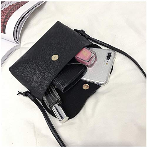 Shoulder Woman's with Messenger Tassel Mini Small Bafaretk Bag Bags Vintage Handbag BLACK Fashion vUwTI4