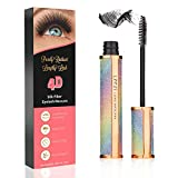 4D Silk Fiber Lash Mascara | Hypoallergenic, Cruelty-Free for Long Eyelash | All-day formula, No-hassle removal, No clumping, Waterproof Mascara | Smudge-proof fiber mascara