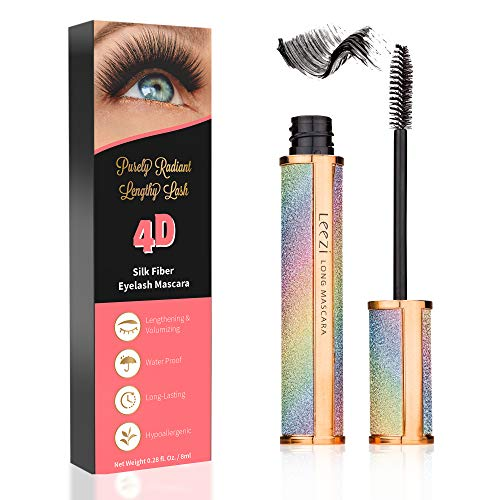 4D Silk Fiber Lash Mascara | Hypoallergenic, Cruelty-Free for Long Eyelash | All-day formula, No-hassle removal, No clumping, Waterproof Mascara | Smudge-proof fiber mascara (Mascara That Doesn T Smudge Under Eyes)