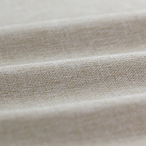 Tie-up Valances for Windows Linen Textured Room Darkening Adjustable Tie Up Shade Window Curtain Rod Pocket Tie-up Valance Curtains 18 Inches Long (1 Panel, Greyish Beige) by jinchan (Image #6)'