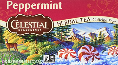 Celestial Seasonings Herbal Tea, Peppermint, 20