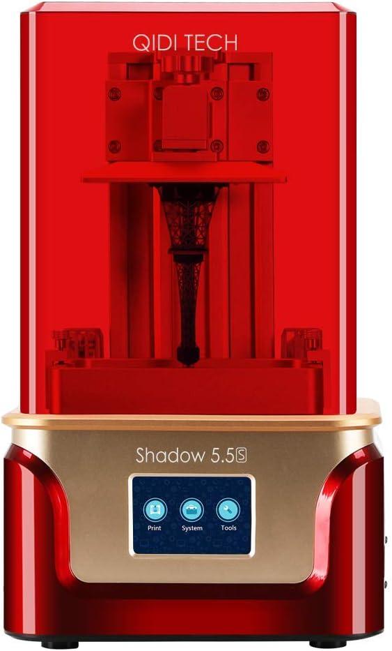 "QIDI TECH Shadow 5.5 S 3D Printer, UV LCD Resin Printer with Dual Z axis Liner Rail, 3.5 Inch Touch Screen,Build Size 4.52""(L) X 2.55""(W) X 5.9""(H)"
