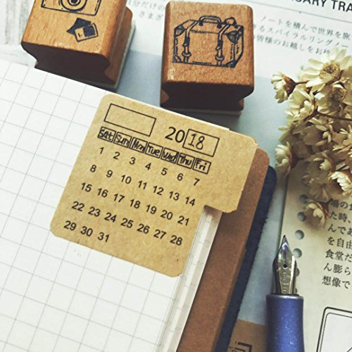 Chris.W Self Adhesive Undated Monthly Calendar Stickers with Index Tabs for Planner, Appointment Book and Bullet Journal - Kraft Paper(2 Sets)