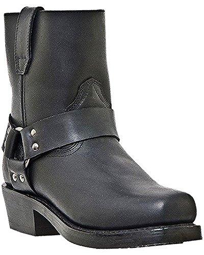 Dingo Men's Rev Up Zipper Motorcycle Boot Square Toe Black 12 EE US