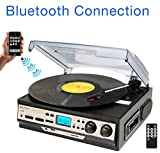 Best Speed Turntable With LCD Displaies - Boytone BT-27R-C Bluetooth connection 3-Speed Stereo Turntable, 2 Review