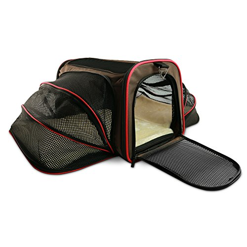 Blu & Merle Easy Carry Soft Sided Airline Approved Pet Carrier Bag