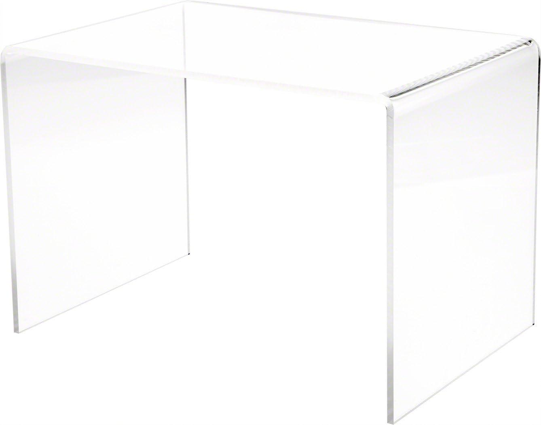 "Plymor Clear Acrylic Rectangular Display Riser, 9"" H x 13.5"" W x 9"" D (1/4"" Thick)"