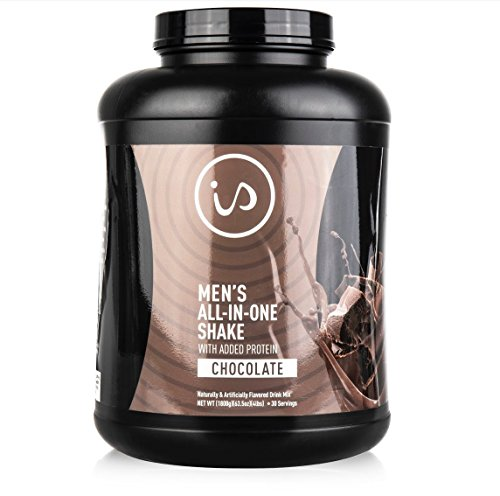 Cheap IdealShape Men's All in One Chocolate – Meal Replacement Shake w/Added Protein – Supports Weight Loss & Lean Muscle Mass, Slow Digesting Carbs Keep You Healthy and Full