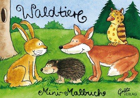 Wald Tiere Mini Malbuch
