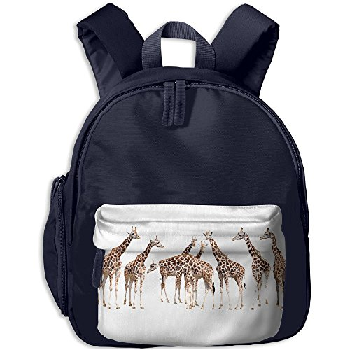 Series A Group Of Giraffe School Backpacks For Children Girls Boys Oxford Printed With Front Pocket Navy - Costume Definition Oxford
