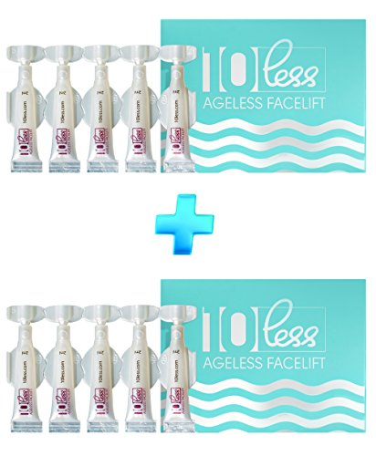 Anti Aging 10 Less Ageless Facelift -LOOK 10 YEARS YOUNGER -Hyaluronic Acid+ (Results Eyes Smoother)