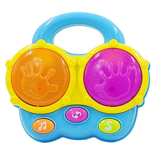 Portable First Bongo Drums | Educational Toy for Music Learning and Entertainment for Ages 9 Months to 4 Years