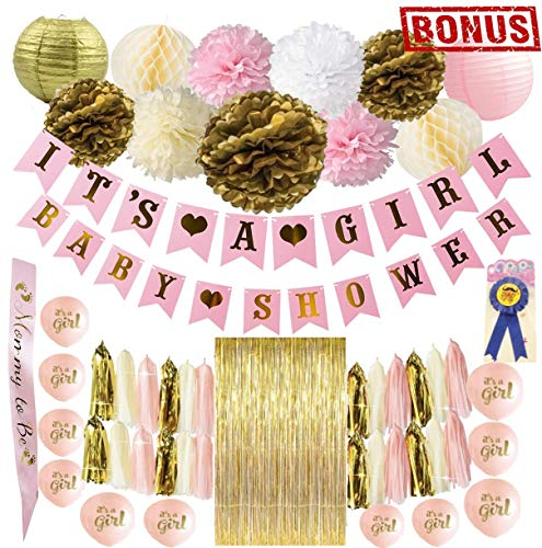 Luxury Ace Baby Shower Decorations Kit for Girls