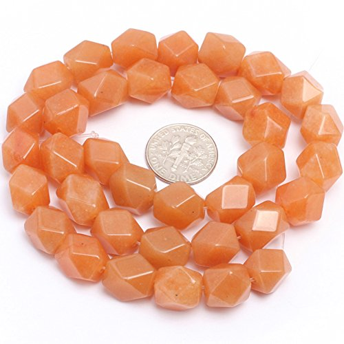 "Red Aventurine Jade Beads for Jewelry Making Natural Gemstone Semi Precious 9x11mm Faceted 15"" JOE FOREMAN"
