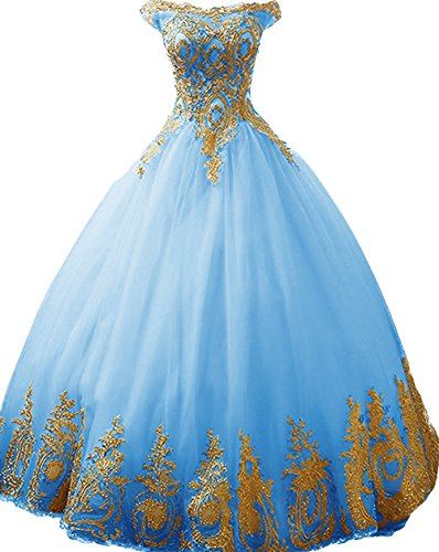 Appplique Quinceanera Dresses Strapless Prom Ball Gown BD389 ()