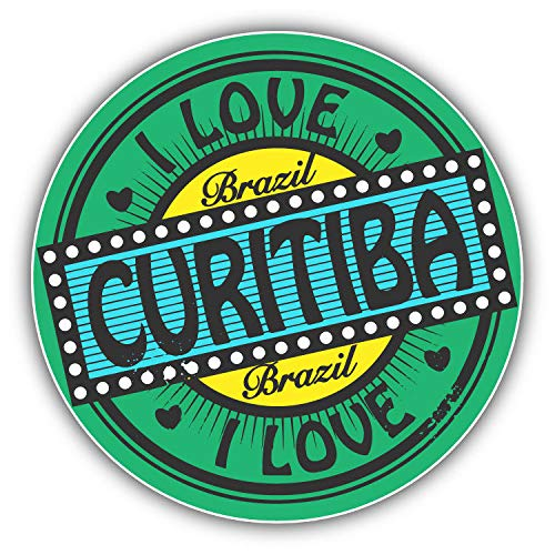 (JJH Inc Magnet I Love Curitiba City Brazil Travel Stamp Flexible Vinyl Magnet Waterproof Car Magnetic Bumper Sticker 5