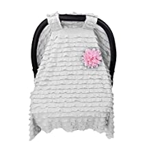 Baby Car Seat Cover Organic Cotton Infant Carrier Canopy Nursing Cover Baby Shower Gift for Breastfeeding Mom
