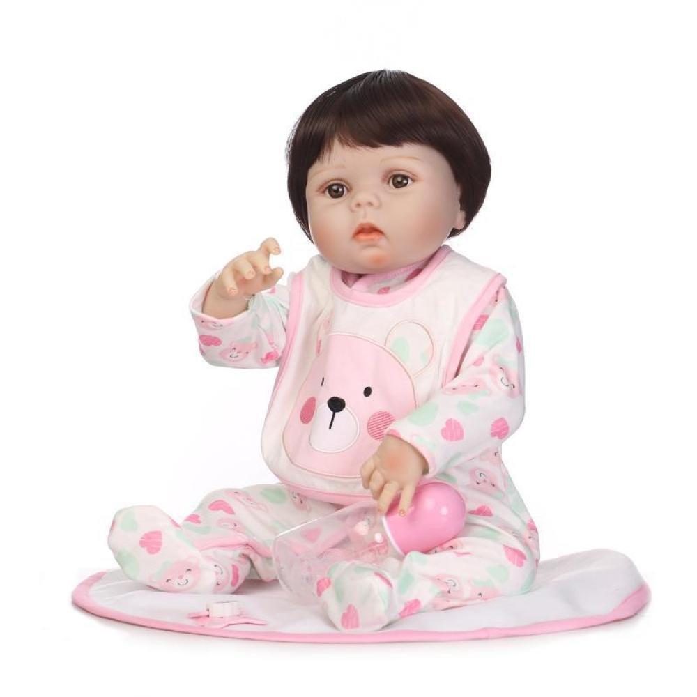 GHCX Muñeca Renacida De La Simulación del Silicón Bebé Lindo Puede Incorporar El Regalo Creativo De Los Niños del Juguete del Agua 57CM