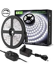 LE Tira LED, Cadena de Luces, LED Tira de Luz TV,Blanco Frío Blanco Cálido para Techo, Escaparate, Muebles, etc.