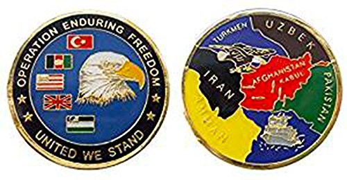 Operation Enduring Freedom Afghanistan Challenge Collectible Coin Logo Metal Lucky Poker Chips & Gift ()