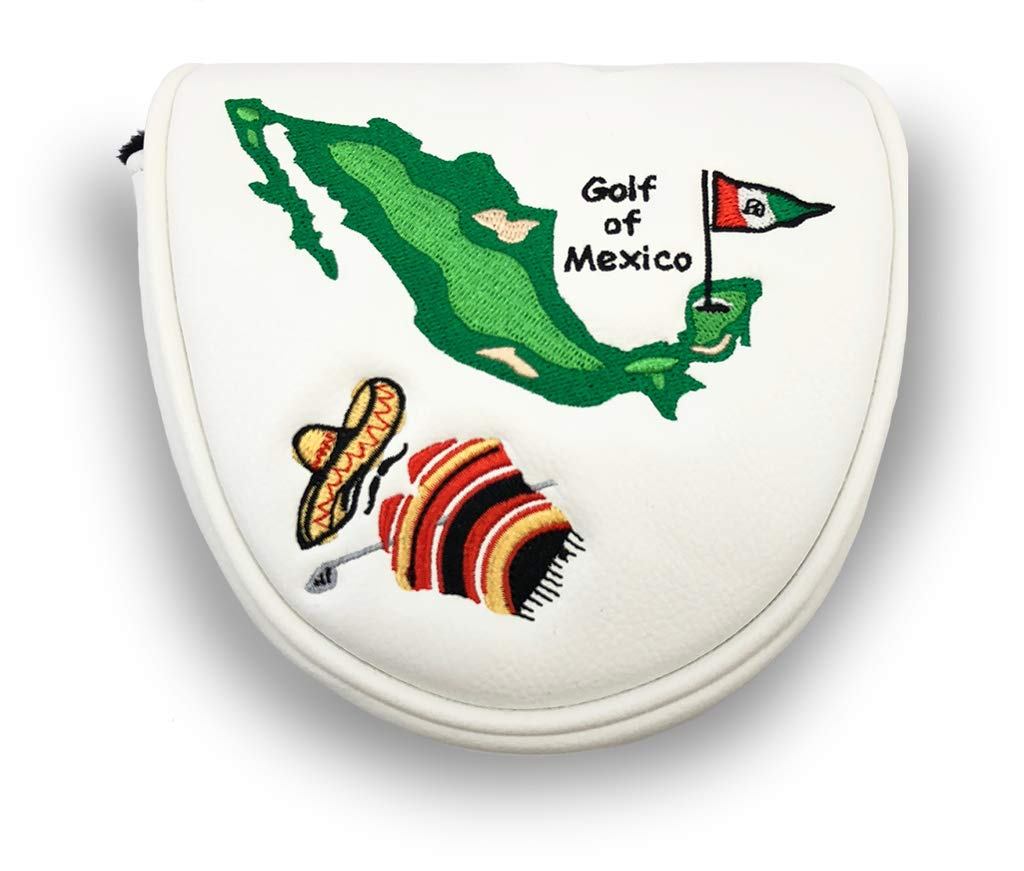 Prg Americas Golf of Mexico マレットパターヘッドカバー ホワイトマレット   B07GJQZ5X7