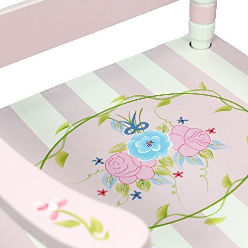 Teamson Design Corp Fantasy Fields - Bouquet Thematic Kids Wooden Rocking Chair Imagination Inspiring Hand Crafted & Hand Painted Details Non-Toxic, Lead Free Water-based Paint by Teamson Design Corp (Image #6)
